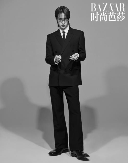王一博时尚大片出炉,造型独特解锁多面时尚